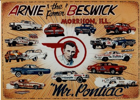 Arnie the farner beswick, Pontiac, dragway, NHRA, IHRA, NASCAR, racing, drag, drag racing, pontiac, tiger, tamless, tameless tiger, farmer, GTO, hall of fame, cordova champion